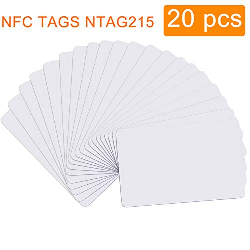 Cadeya 20pcs NTAG215 Card NFC Cards Work with Wii U and New 3DS System for All NFC-Enabled Smartphones and Devices
