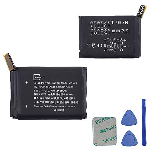Neuer Ersatzakku A1579 246mAh 3.78V 0.93Whr Kompatibel mit Watch 1st Generation 42mm A1554 with Tools