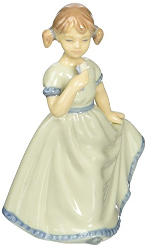 Price comparison product image Cosmos Fine Porcelain Girl Holding Dress Figurine