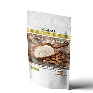 NATURSEED - Harina de Almendras Española - Alta en Proteinas y Baja en Carbohidratos - Sin Gluten - No GMO- Apta para Dietas Keto - Paleo - Low Carb - Reposteria - Panes (500GR)