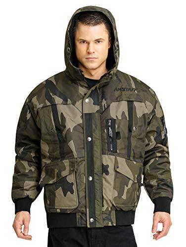 Amstaff Conex Winterjacke 2.0 Männer Bomberjacke Camouflage M