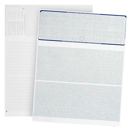 500 cuadros en blanco – diseñado para asegurar cuadros impresos por computadora con Quickbooks y más – patrón de lino azul – 500 hojas – 8.5 pulgadas x 11 pulgadas