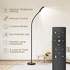 ❤[2 in 1 Smart Remote Control and Touch Control] With the remote control, you can easily control the floor lamp, without leaving the sofa and warm bed (with a 36ft/15m range).With the touch control,Stepless brightness adjustment(Brightness from 10% t...