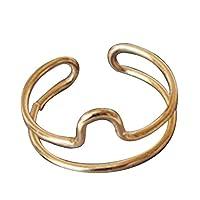 GuDeKe レディース ジュエリー ゴールド 星座記号 リング 調節可能 オシャレ お守り 十二星座 指輪 誕生日 プレゼント (天秤座/Libra)