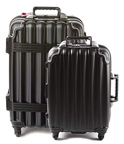 wine travel bag for luggages Bundle - 2 items: VinGardeValise Wine Travel Suitcase 12 & 5-bottle - Grande 05 and Piccolo 01, Black