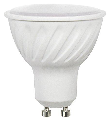 Wonderlamp W-B000009 - Bombilla LED SMD alta potencia GU10 Cristal Mate , 7 W , Luz fría (6000º K) , 700 lm, 25000 horas , Ángulo de luz : 100º Encendido instantaneo (100% luz 0,5s)