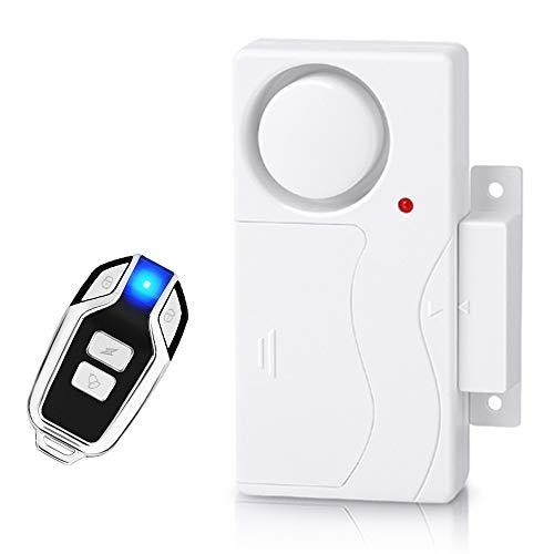 Wsdcam Wireless Door Alarm Anti-Theft Burglar Alert Window and Door Open Alarm Magnetic Sensor Pool Door Alarms for Kids Safety Home Security, 110 dB Loud, Door Alarm with Remote