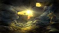 陽光明媚な洞窟1000ピースジグソーパズル木製ジグソー脳チャレンジ