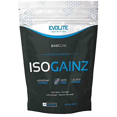 Evolite Nutrition IsoGainz Package of 1 x 1000g Mass Gainer - Weight Gain – Carbohydrates - Whey Protein Isolate and Concentrate (Banana)