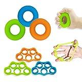 Hand Grip Strengthener, Finger Exerciser, Grip Strength Trainer (6 PCS),New Material,Forearm Grip...