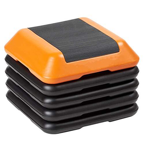 ZALIANG Aerobic Stepper Step Steps Übung Verstellbares Gym Stepper Board - Orange Übungsschritt