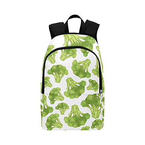 Limiejo Best Packable Daypack Green Vegetable West Blue Flower Durable Water Resistant Classic Teen College Bags Backpacks for Women Backpacks for Kids Mens Toiletries Travel Bag