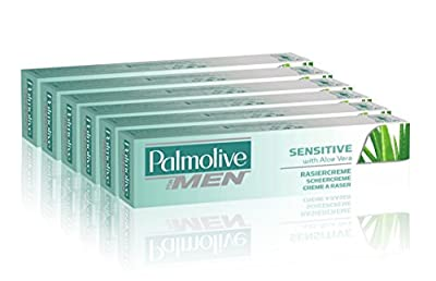 Palmolive Sensitive Lather Shave Cream with Aloe Vera, 100 ml - Pack of 6
