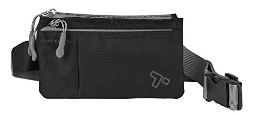 Travelon 6 Pocket Waist-Pack, Black, One Size