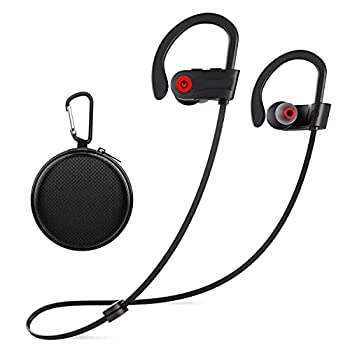 Otium Wireless Headphones Bluetooth Headphones,Sports Earbuds IPX7 Waterproof Stereo Earphones for Gym Running 9 Hours Playtime Noise Cancelling Headsets
