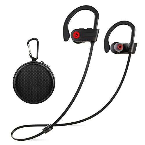 Otium In-Ear Sport Bluetooth Kopfhörer, Kabellose Hochleistung In-Ear Kopfhörer IPX7 Wasserdicht, Kabelgebunden Kopfhörer mit Mikrofon 9 Stunden Wiedergabe für Sport, Schwarz