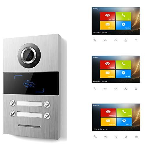Villa 3 WE - Videoportero con pantalla táctil TFT de 17,8 cm