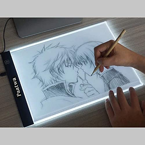 Light Box for Tracing A4 Led Artcraft Light Pad Tracer Dimmable Brightness Copy Drawing Board Tracing Table for Artists Designing Sketching Animation by PAATWA (A4S)