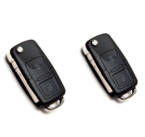JURMANN 2X Schlüssel Gehäuse Fernbedienung Klappschlüssel 2 Tasten VWKS01 Passat New Beetle Golf IV Caddy Crafter Jetta Transporter Sharan Touran
