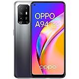 OPPO A94 - Smartphone 5G Débloqué - Téléphone Portable 5G - 128 Go de Stockage 8 Go de RAM - Écran AMOLED - Quadruple Capteur Photo 48 MP - Vidéo Ultra Nuit et HDR - Charge Rapide - Noir