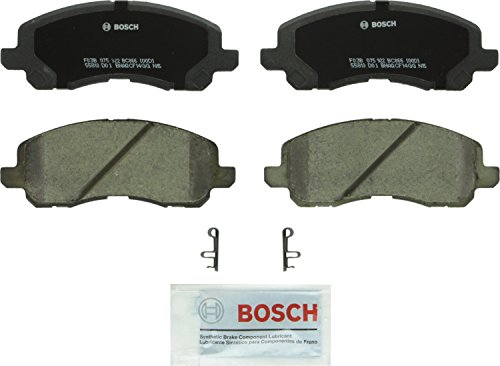 Bosch BC866 QuietCast Premium Ceramic Disc Brake Pad Set For Select Chrysler Sebring; Dodge Avenger, Caliber, Stratus; Jeep Patriot; Mitsubishi Eclipse, Galant, Lancer, Outlander; Front