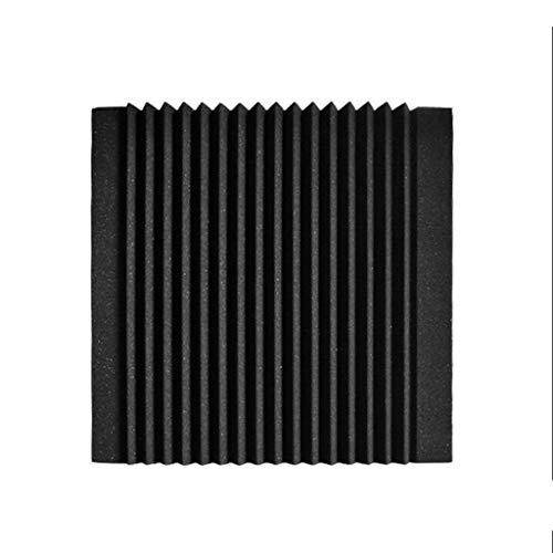 KANGjz Büro Schallisolierung Panels, Black Square Noppenschaumstoff Hotel Besprechungszimmer schallabsorbierende Baumwolle Größe: 50 * 50 * 5CM Schön und langlebig ( Color : Black )