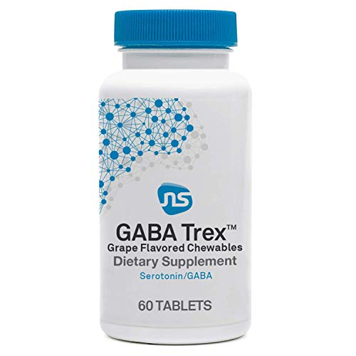 NeuroScience GABA Trex - L-Theanine Chewables to Support Calm and Sleep in Adults & Children (60 Grape Flavor Chewable Tablets)