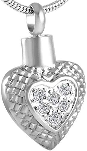 necklace Ladies fashion Memorial Charm Ashes Keepsake Holder Shining Crystal Heartt Cremation Urn Pendant 316L Stainless Steel Hoisting