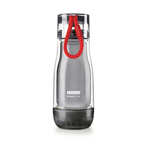 ZOKU(ゾク) コアボトル 355ml ブラック φ7.7xH21cm カラフル おしゃれ 耐熱 耐久 ガラス ホウケイ酸 衛生的 おいしい 日常 39464