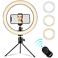 Tomnew 10'' Ring Light with Stand and 2 Phone Holder