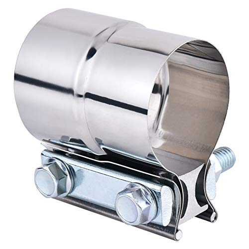 """SYKRSS 2.0"""" Lap Joint Band Clamp Exhaust Clamps Pipe Repair Parts Stainless Steel"""