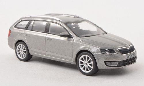 Skoda Octavia III Combi, metallic-grau, 2013, Modellauto, Fertigmodell, Abrex 1:43
