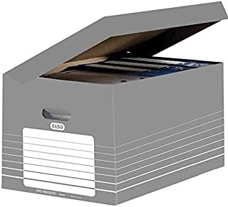 Elba Scatole Archivio automatici 345X450X280 grigio, 10 Pezzi