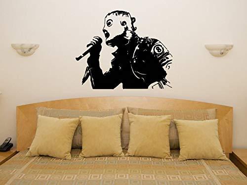 Clásico Corey Taylor Slipknot Mask Cantante Artista Música Super Star Vinilo Calcomanía Arte Etiqueta de la pared Bar Dormitorio Sala de estar Decoración del hogar Cartel mural