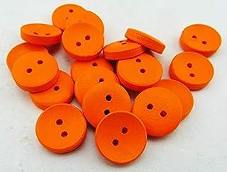 TMYQM 100 قطعة 15 مم طلاء أحمر أزرار خشبية معطف جزمة خياطة إكسسوارات الملابس MCB-800-9 (اللون : برتقالي)