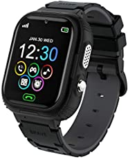 Kids Smartwatch for Boys Girls with MP3 Video Player, Kids Smart Watch Phone with 7 Games Music Player Camera SOS Alarm Clock Calculator Recorder Children Watch for Kids Age 4-12 Birthday Gifts