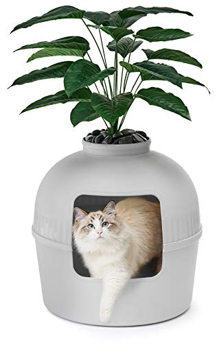 Bundle & Bliss Secret Litter Box - Premium Hidden Litter Box Enclosure, Perfect for Large Cats, Doubles as Cat Furniture or Covered Cat Litter Box Furniture, Best Enclosed Cat Box Furniture, Gray XL