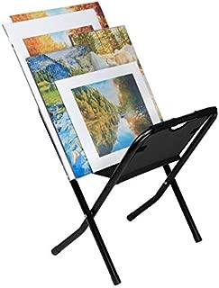 Creative Mark Folding Canvas Art & Display Rack - Art Gallery Display Rack for Displaying Artwork Canvas, Panels, Storage Rack, Drying Rack - [Black - 25 x 18