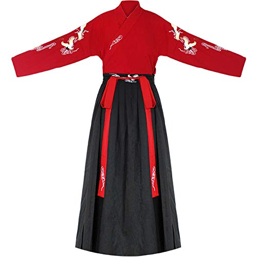 Chinese Wind Han Chinese Kleding Aziatische Oosterse Chinese Jurk Kostuum Kruis Kraag Mannen En Vrouwen Traditionele Kostuum Vechtsporten Stijl Liefhebbers Hanfu