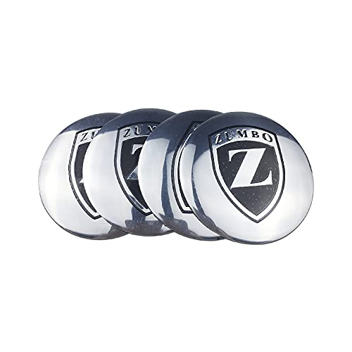 JUULLN Cubierta Central Cubierta de neumáticos de Estilo de Coche Durable Logotipo de la calcomanía, Adecuado para Zumbo Logo, Honda Civic Opel Renault Clio Fiat 500 Coche Centro de Ruedas Tapacubos