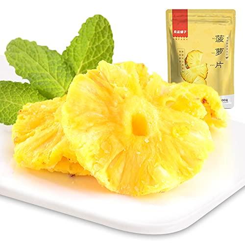 100 g de liangpinpu de fruta confitada de piña seca frutas de piña secas y frutas de piña de piña secas, rodajas de piña de piña, rodajas de piña y piña