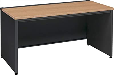 オカムラ スタンダードデスク アドバンス メーカー手配による組立・設置サービス付 幅1100x奥700x高720mm 平机 ネオウッドミディアム 3V2NEK-MK58