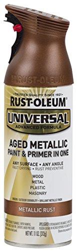 Rust-Oleum 285072 Universal All Surface Spray Paint, 11 oz, Aged Metallic Rust