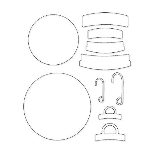 TankMR kerstbal metalen stansvormen, sjabloon voor doe-het-zelf scrapbook, album, papier, kaart, kunsthandwerk, decoratie zilver
