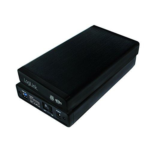 LogiLink UA0284 USB 3.0 Festplattengehäuse für (3,5 Zoll) S-ATA HDDs bis 6TB mit AN/AUS Schalter schwarz