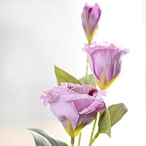 3 branches 70cm Artificial Trigeminal Eustoma Home Decoration Fake Wedding silk,plum