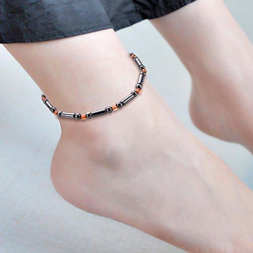 ECMQS Magnetfeldtherapie Fußkettchen, Gesunde Gewichtsabnahme Ankle Armband Für Frauen Männer Schmuck Neue (03#)