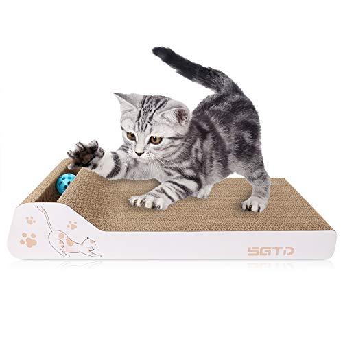 猫 つめとぎ 爪とぎ ダンボール スクラッチボード ベッド ガリガリ ウォール スクラッチャー 高密度 頑丈 省スペース 清潔ストレス発散 家具破損防止 かわいい動物の模様付き