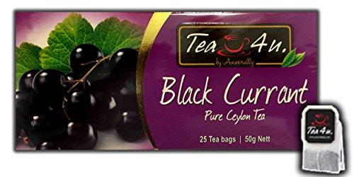 Tea4U Black Currant Black Tea Bags - Original Ceylon Tea