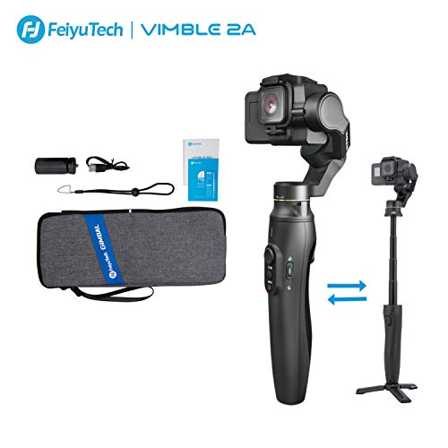 FeiyuTech Vimble 2A Action Camera Gimbal 3-Axis Handheld Stabilizer with 180mm Extension Pole for Gopro Hero 5 6 7